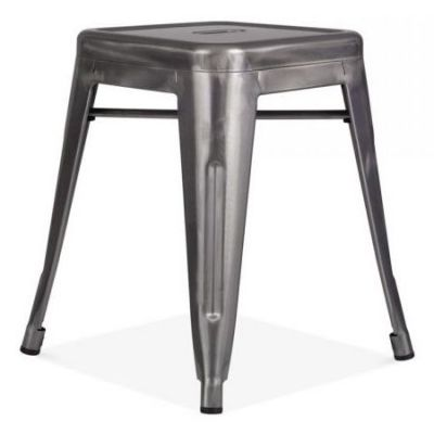 French Bistro Low Stool (Clear Lacquer)
