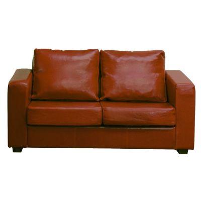 Britannia Two Seater Sofa (Brown Faux)