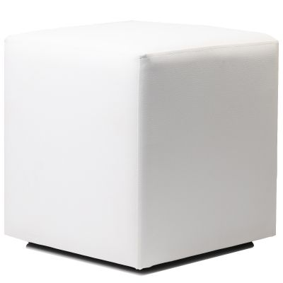 Cube Low Stool (White)