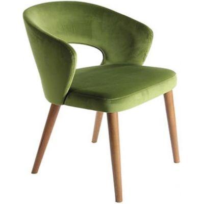 Ambrosia Side Chair (Green Velvet / Dark Oak)