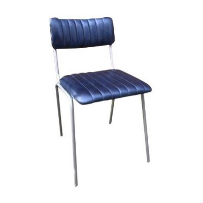 Rib Side Chair (Cobolt / Silver)