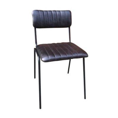 Rib Side Chair (Ink / Black)