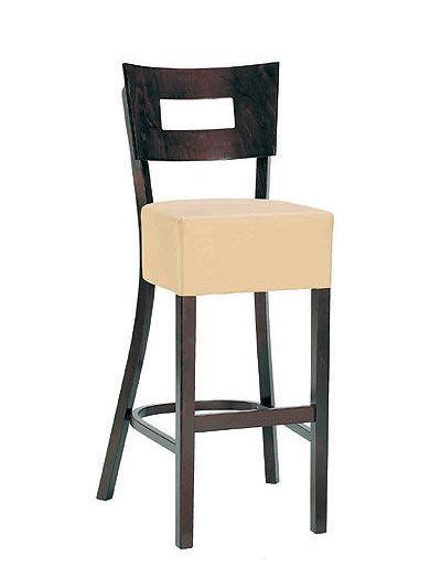 Memphis Solid Back VAR High Chair (Ivory / Walnut)