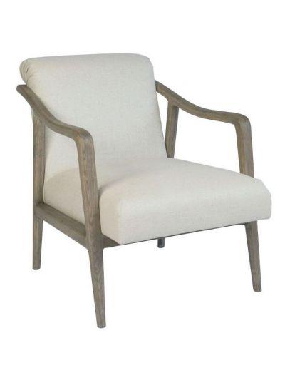 Alton Lounge Chair (Ecru / Distressed Oak)
