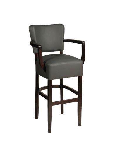 Memphis Open Arm High Chair (Vena Grey/Walnut)