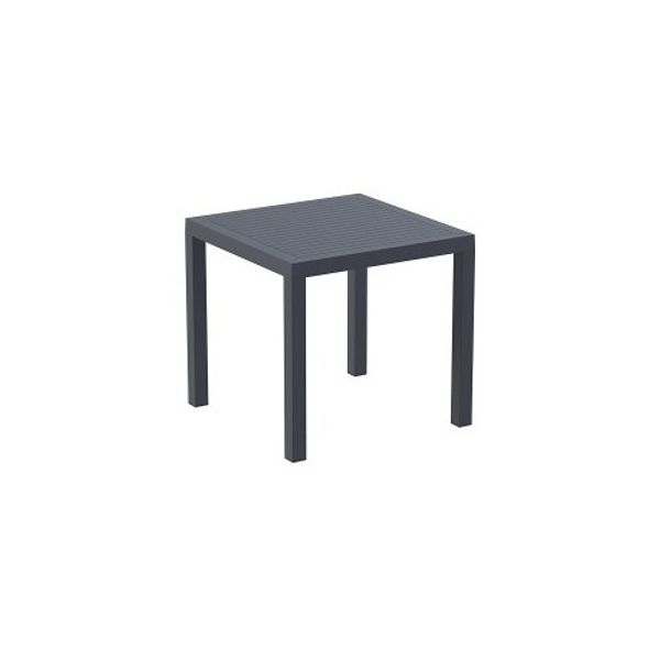 High quality indoor and outdoor plastic chair in the ares furniture range from Bellamy and Britton. Dark grey in colour.