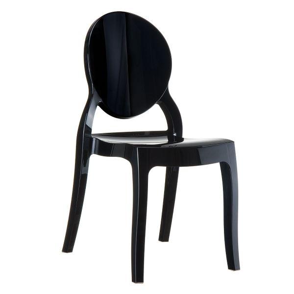Elizabeth Chair (Solid Black)