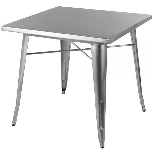Bistro Steel Dining Table 80