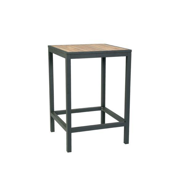Brew Square High Table Grey/Teak