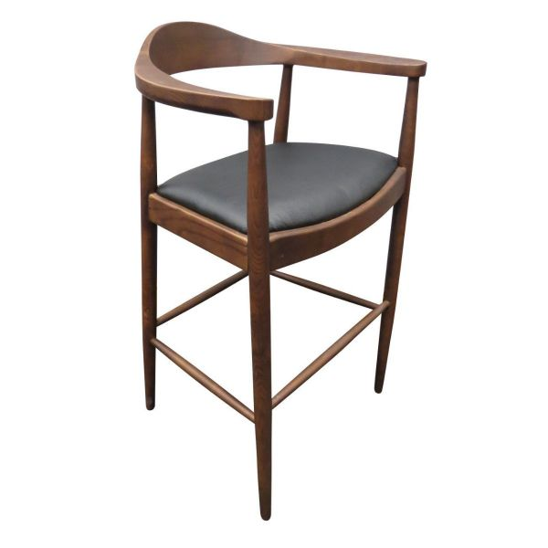 Flight Arm High Stool (Walnut/Black)