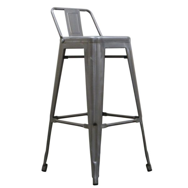 Bistro Steel High Stool With Back 76