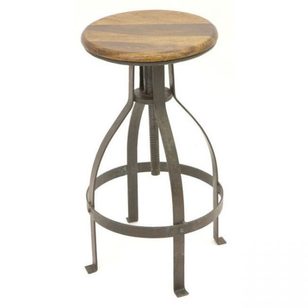 Industrial Swivel High Stool