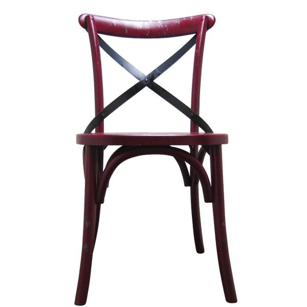 Palm Side Chair (Distressed Red)