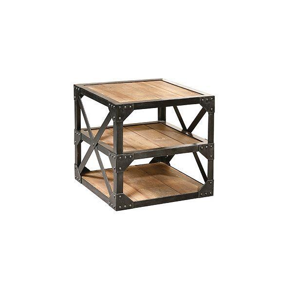 Industrial Three Shelf Cube Rack