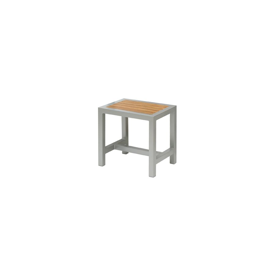 Super Brew Low Stool Silver Teak Gmtry Best Dining Table And Chair Ideas Images Gmtryco